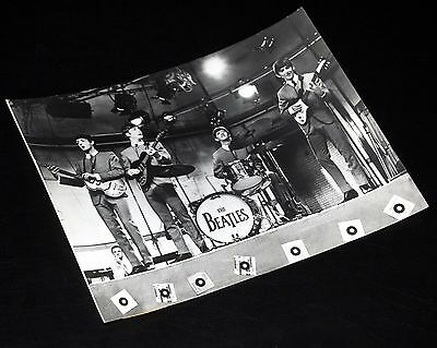 1960's THE BEATLES Playing On Stage Vintage 7x9 Press Photo Lennon McCartney