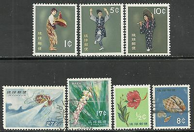 us possessions Ryukyu Islands stamps - 7 different issues
