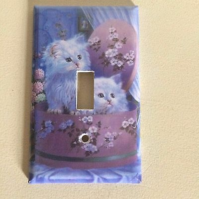 Switch Plate Cover  Kittens Hat Box Wall  Decor