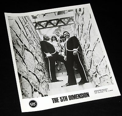 1960's THE 5th FIFTH DIMENSION Posing In Stairway Vintage 8x10 Press Photo