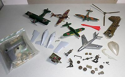 Model Airplanes, Helicopter, Military Ground Troops: Vintage Builders & Parts
