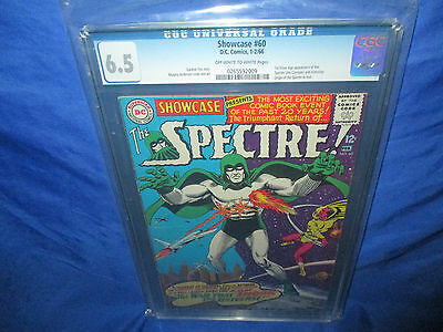 DC Spectre Showcase #60 CGC 6.5 1966 Murphy Anderson Art 1st Silver Appearance