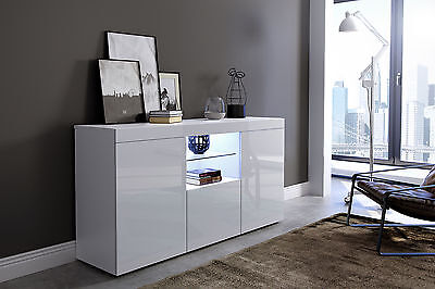 """""""EXETER"""" High Gloss Modern Contemporay Sideboard with LED lighting"""