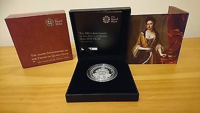 Royal Mint Silver Proof Coin 300th Anniversary Of The Death Of Queen Anne  £5