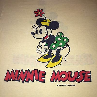 Vintage 1970s MINNIE MOUSE T-Shirt Size Small 70s Mickey Disney Made In USA
