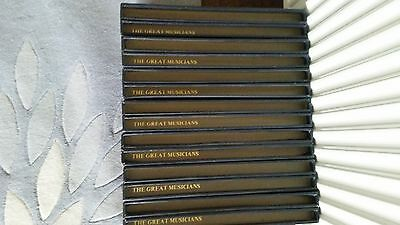 """Complete Set comprising 7 Boxes – The Great Musicians – 84 x 10"""" Records."""