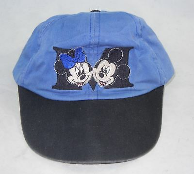 Disney Mickey and Minnie Mouse Blue Youth Baseball Cap Hat WD Official Hat