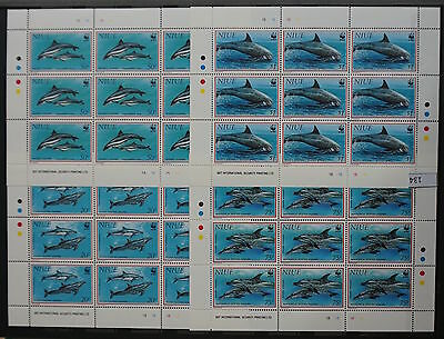 S0 0134 WWF Animals Niue MNH 1993 Dolphins Whales