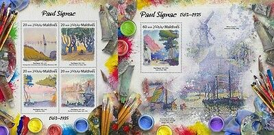Z08 IMPERFORATED MLD17306ab MALDIVES 2017 Paul Signac MNH ** Postfrisch Set