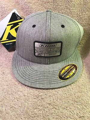 Klim Patch Hat 210 Fitted Black And Grey Sm - Md 6 7/8 - 7 1/4 New