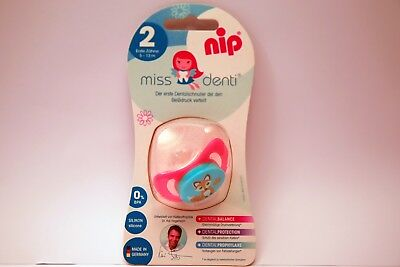 NEW NIP Miss Denti 5-13 Month Silicone Soother Baby Dummy Infant Pacifier