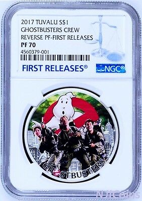 2017 Ghostbusters Crew 1oz Silver $1 Coin NGC PF70 FIRST Releases