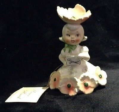 Vintage National Potteries Co Japan 1956 Flower of the Month Figurine NAPCO