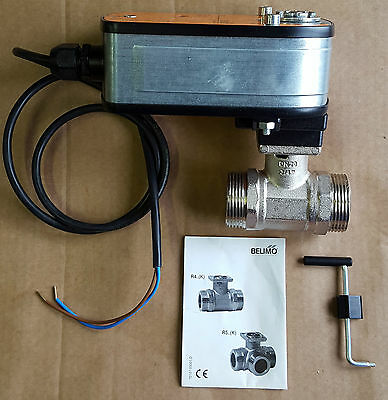 """Belimo Automatic valve actuator and 3/4"""" ball valve LRF230 + R420 New"""