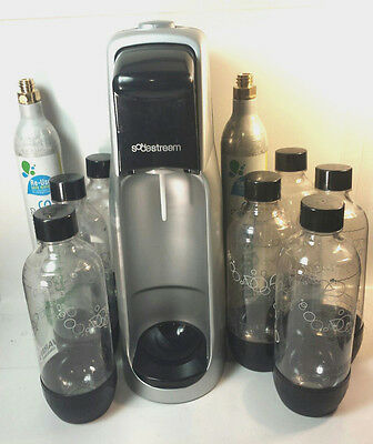 SodaStream A200 Home Fountain Jet Soda Maker w/ 2 - CO2 Canisters + 7 - Bottles