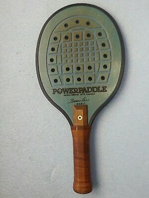 PowerPaddle Brian Lee Paddleball Beach Tennis Racquet Balmforth Handle Teal