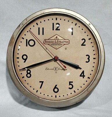 Vintage 1940's Briggs & Stratton Engines Advertising Clock Edwards Company Sign