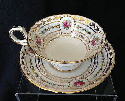 Antique Copelands China cup & saucer for Davis Collamore & Co., NY 1800s