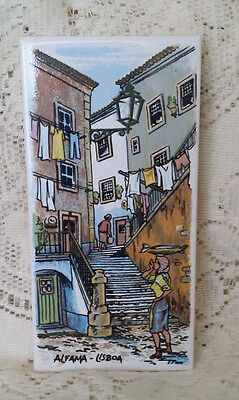 Vintage Tile Art From Portugal Alfama-Lisboa by Artist Tino