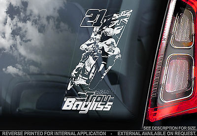 Troy Bayliss - Car Window Sticker - Australia Superbike Motorcycle MotoGP BSB