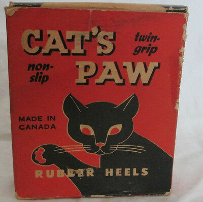 Vintage 1940s Cats Paw Shoe Heel Size 11-12 Lucian Bernhard New Old Stock NOS