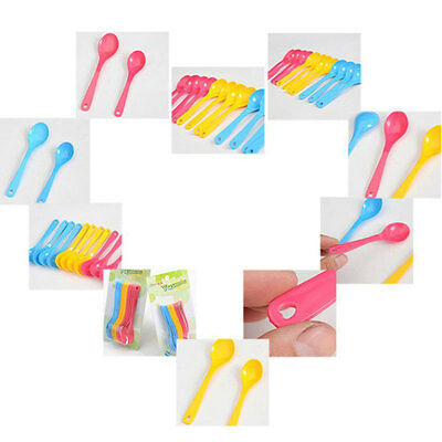 12Pcs Feeding Spoon Plastic For Baby Toddler Training Eating Food Utensil Set