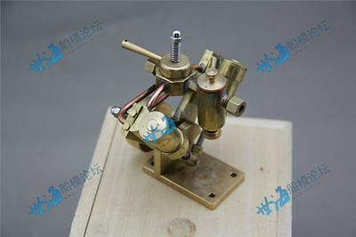 V type Double Cylinder Oscillating Steam Engine Model Ship Accessories
