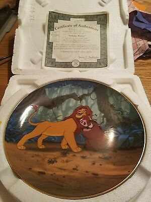the bradford exchange lion king plate hakuna matata new with coa