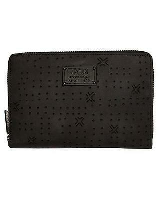 Rip Curl INDIANA RFID OVERSIZED LEATHER TRAVEL WALLET Passport Purse - Black
