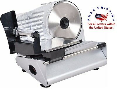 "Heavy Duty Kitchen Meat Slicer 7.5"" Blade Deli Cheese Food Cutter Lunch Veggies"