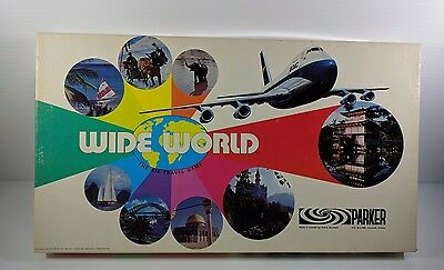 Wide World Board Game Parker Brothers Complete Vintage Air Travel Game