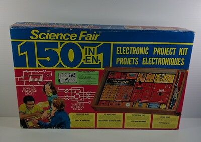 Vintage Radio Shack Science Fair 150 in 1 Electronic Project Kit