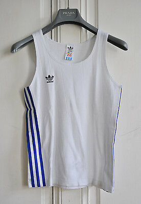Vintage ADIDAS 80s Tank Top Track Shirt Retro Work Out Gym Vest 90s Oldschool