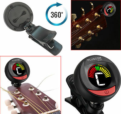 Clip On LCD Chromatic Acoustic Electric Guitar Tuner Bass Violin Ukulele Banjo