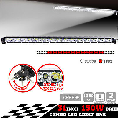 New Slim 150W CREE Led LightT Bar Spot Flood Offroad Work Lamp 4X4 Truck Atv Boa