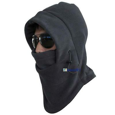 New 2016 Thermal Fleece 6 in 1 Balaclava Hood Police Swat Ski Mask Cool Gray  DN