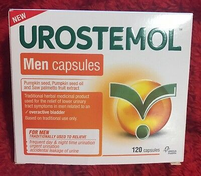 NEW Urostemol Men Capsules Pumpkin Seed & Saw Palmetto Fruit 120 Capsules