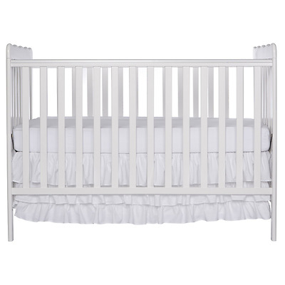 Dream On Me Classic 3 in 1 Convertible Stationary Side Crib, White