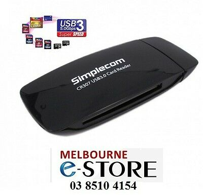 Simplecom CR307 USB 3.0 All In One Card Reader with Compact Flash CF