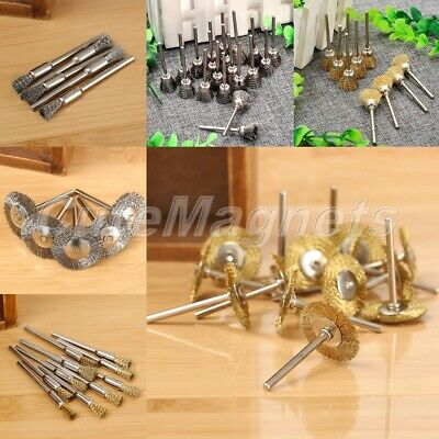 40Pcs Pen Wire Cup Wheel Polishing Mix Brushes Rotary Tool Grinder Accessories