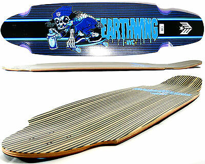 "EW - EARTHWING Longboard Deck - SUPERGLIDER Carbon 38"" Bones BLUE - 5 ply"