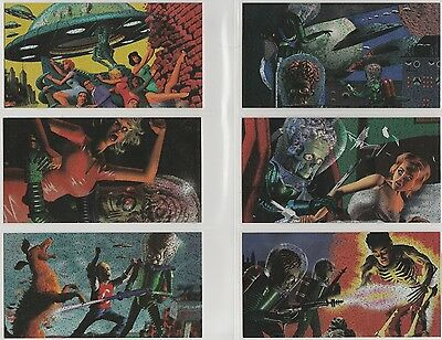 1996 Topps MARS ATTACKS Widevision DESTRUCT-O-RAMA Holo-Foil chase set of 6 card