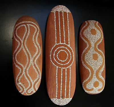 Group of 3 Model Central Australian Aboriginal Ceremonial Shields