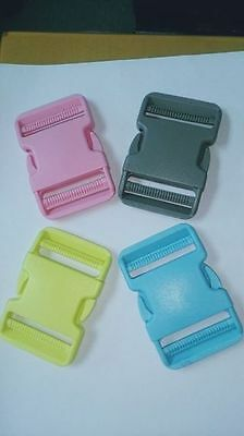 Colourful Backpack plastic buckles for 5cm strap insert