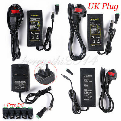 CCTV Power Supply Unit Adapter 2A 3A 5A 6A 8A 10A 2.1mm 12V DC  UK Plug Adaptor