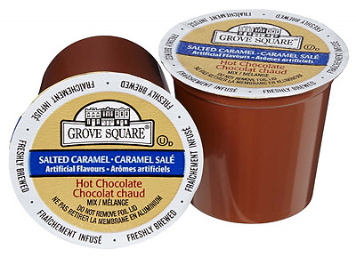 Grove Square Hot Chocolate Mix, Salted Caramel, 24 Single Serve Cups