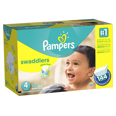 Pampers Swaddlers Diapers Size-4 Economy Pack Plus, 144-Count- Packaging May Var