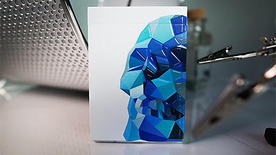 Memento Mori Blue Deck Of Playing Cards Magic Tricks Poker Size Games Collector