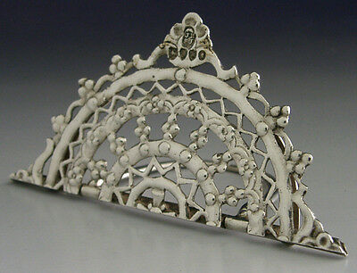Beautiful Quality Victorian Sterling Silver Menu Holder 1885 Antique