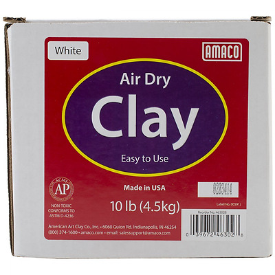 Amaco Air Dry Modeling Clay, 10-Pound, White